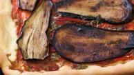 Coca d´albergínia i pebres torrats