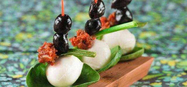 Nius verds de mozzarella