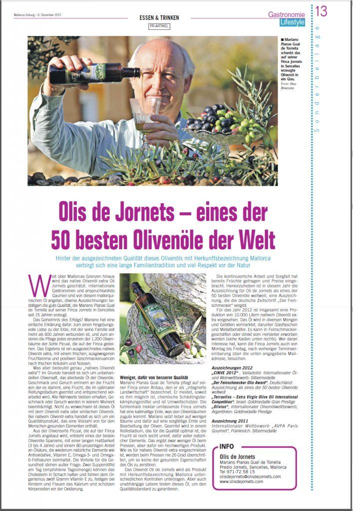 Article Mallorca Zeitung