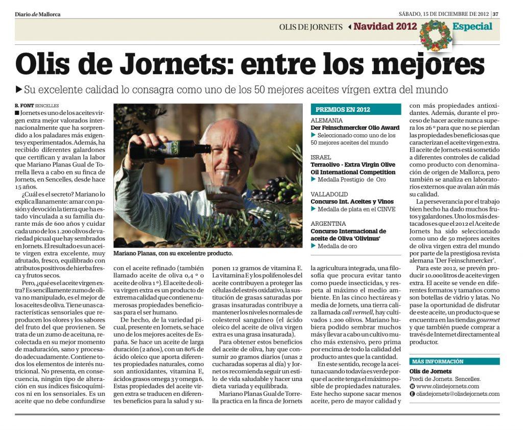 Ressenya al Diario de Mallorca