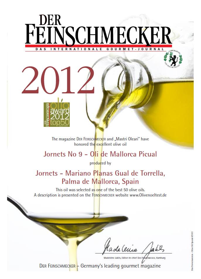Seleccionat com un dels 50 millors olis del món (2012)