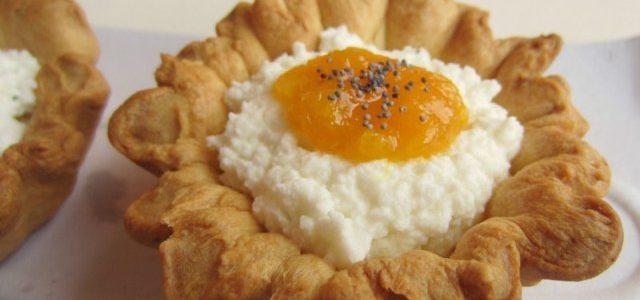 Flor de mató amb melmelada de mandarina i gingebre