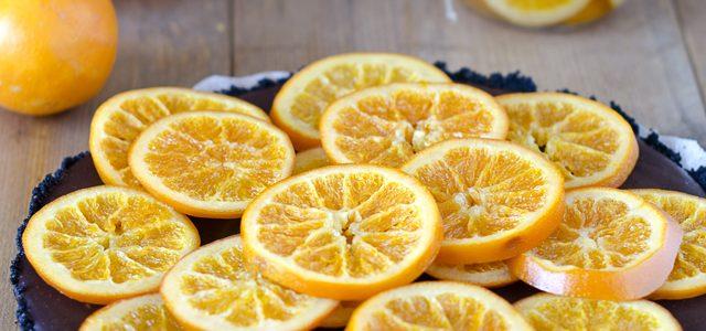 Tarta de xocolata amb taronja confitada